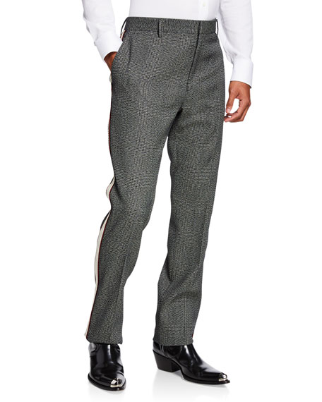 CALVIN KLEIN 205W39NYC Men's Glen Plaid Wool Pants
