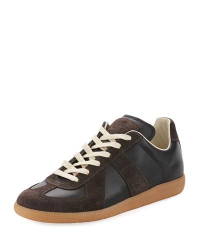 Men's Replica Leather & Suede Low-Top Sneakers