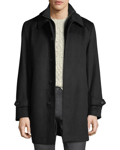 Men's Merled Wool Getaway Layered Topcoat