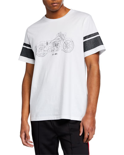 Men's Short-Sleeve Moto Print T-Shirt