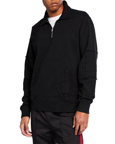 Men's NMX Half-Zip Patch Crew Shirt