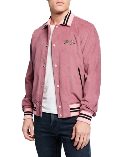 Men's Cord Varsity Jacket