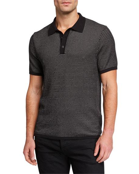 Rag & Bone Men's Finn Striped-Knit Polo Shirt