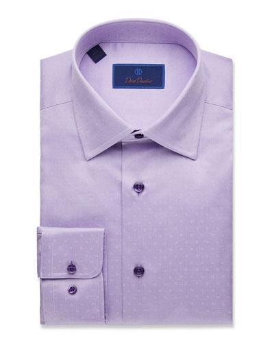 Men's Regular-Fit Dobby-Weave Dress Shirt