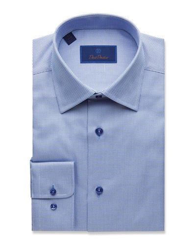 Men's Regular-Fit Tonal-Tic Dress Shirt