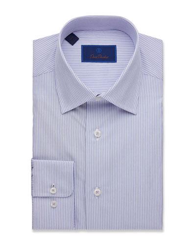 Men's Regular-Fit Framed Stripe Dress Shirt