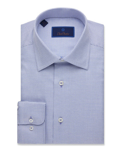 Men's Regular-Fit Mini-Box Dress Shirt