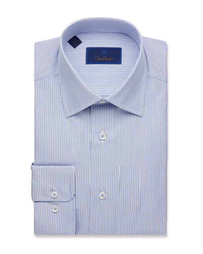 Men's Regular-Fit Framed Stripe Dress Shirt