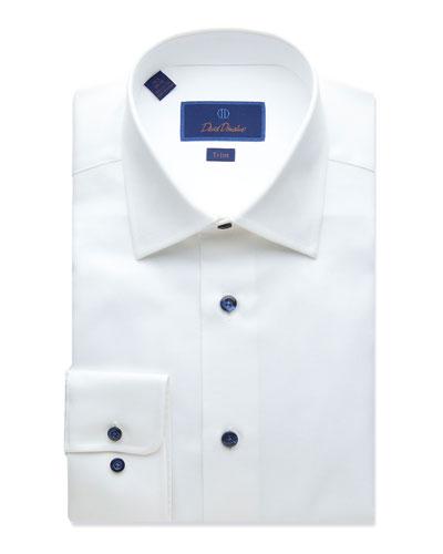 Men's Trim-Fit Textured Dress Shirt