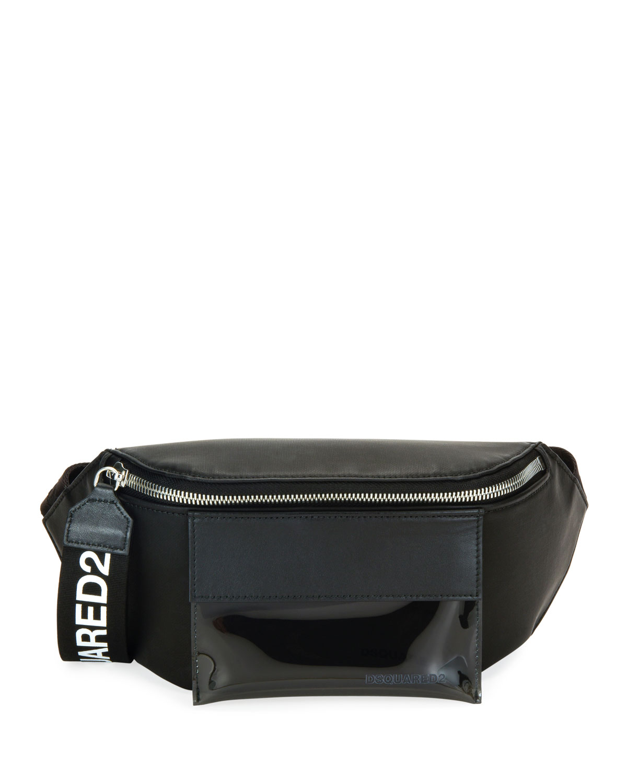 Dsquared2 Men s Canvas Belt Bag Fanny Pack w  Logo-Print Zip Pull ... 1e1a122f3d4