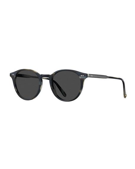 Garrett Leight Men's Clune Round Sunglasses