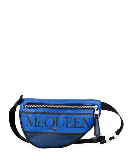 Alexander McQueen Men's Mini Logo-Print Belt Bag/Fanny Pack