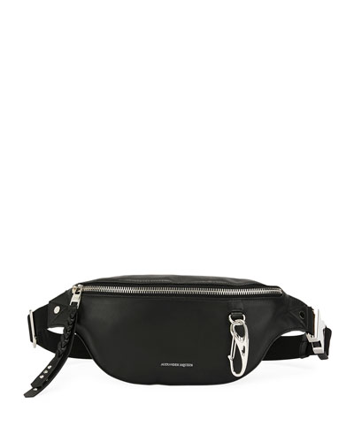 Men's Mini Leather Belt Bag/Fanny Pack