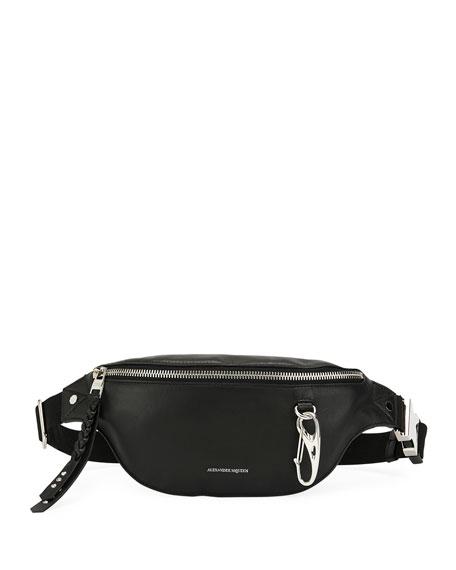 Alexander McQueen Men's Mini Leather Belt Bag/Fanny Pack