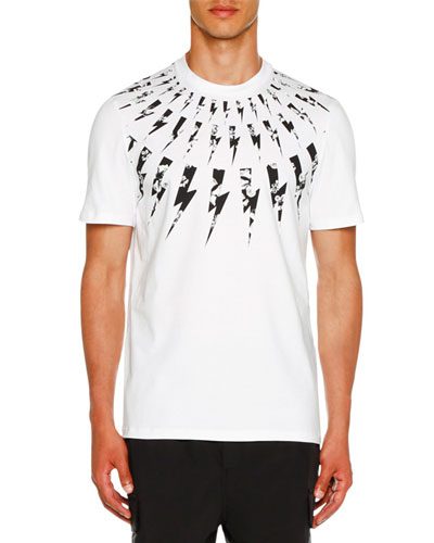Men's Floral Lightning Bolt T-Shirt