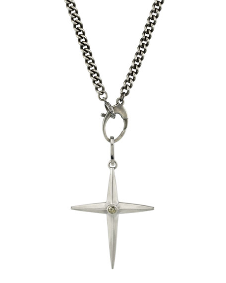 Mr. Lowe Men's Spike Cross Pendant Necklace