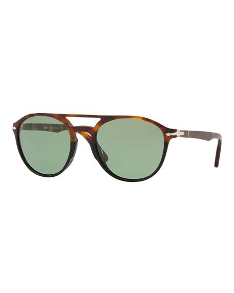 Persol Men's Acetate Round Sunglasses