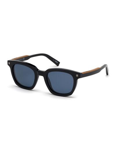 Men's Shiny Acetate Sunglasses - Polarized