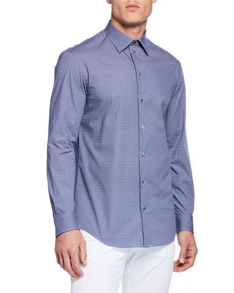 Emporio Armani Men's Geo Pinwheel Pattern Sport Shirt,
