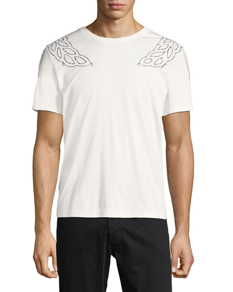 MCM Laurel-Embroidered T-Shirt