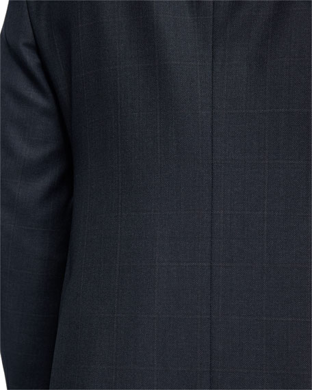 Birdseye Windowpane Wool Two-Piece Suit