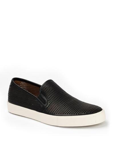 Brett Perforated Leather Slip-On Sneaker