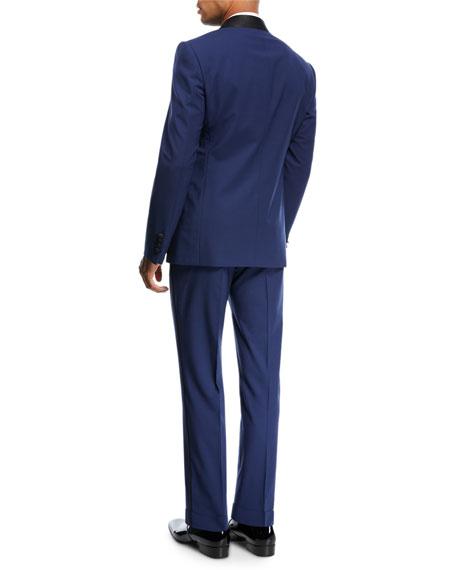 Two-Piece Tuxedo with Satin Peak Lapel, Blue