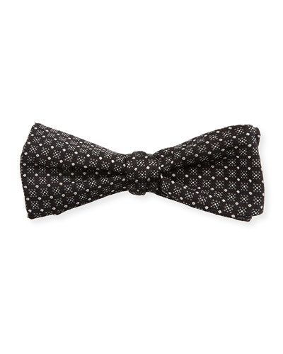 Men's Untied Dot Check Bowtie