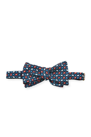 Etro Men's Untied Mini-Paisley Silk Bow Tie