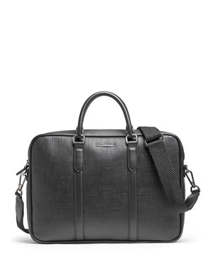 Ermenegildo Zegna Men s Stuoia Printed Calf Leather Briefcase. Favorite.  Quick Look f588273b39e4a