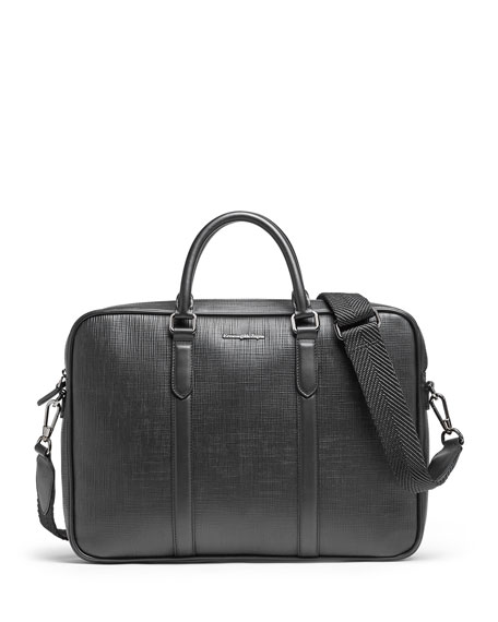 Ermenegildo Zegna Pants Men's Stuoia Printed Calf Leather Briefcase