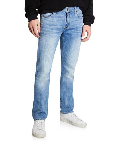 Men's Luxe Performance: Slimmy Blue Jeans