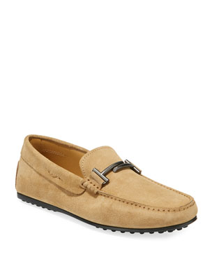 2602a7b90b0 Tod s Men s Double T Slip-On Suede Drivers