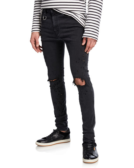 Diesel Men's Distort Ripped-Knee Skinny Denim Jeans
