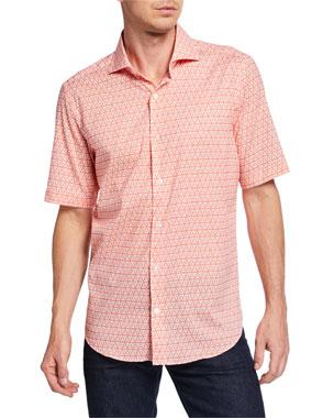 c4f16bb4e Fedeli Men s Sean Short-Sleeve Printed Jersey Shirt