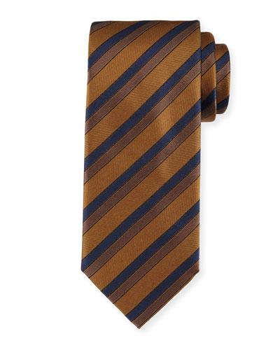 Silk Tonal-Stripe Tie