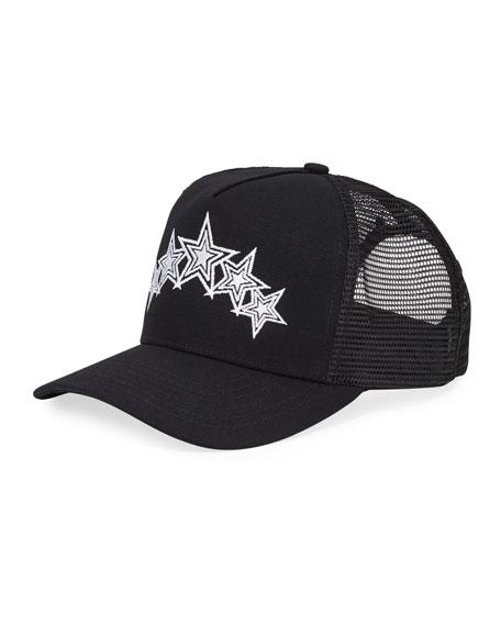 Amiri Men's Embroidered Five-Star Trucker Hat