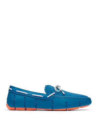 Men's Mesh & Rubber Braided-Lace Boat Shoes  Seaport Blue/Alloy