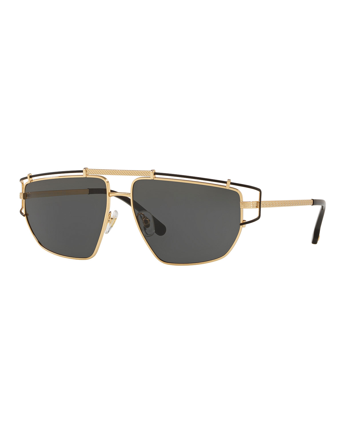 ab2691e9651 Versace Men s Wrap-Style Aviator Sunglasses