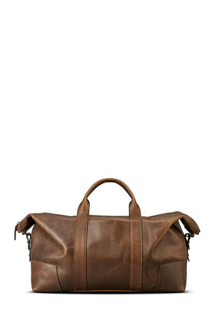 Shinola Men's Navigator Large Leather Carryall Duffel Bag