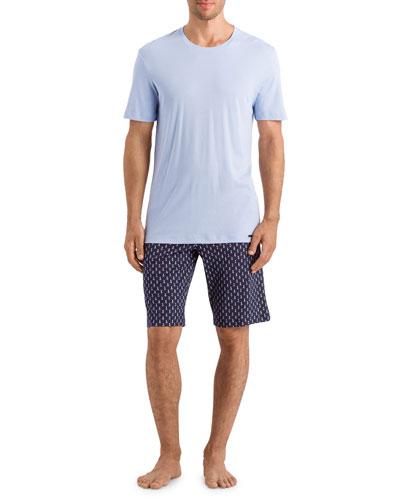 Men's Night Day Pattern PJ Set