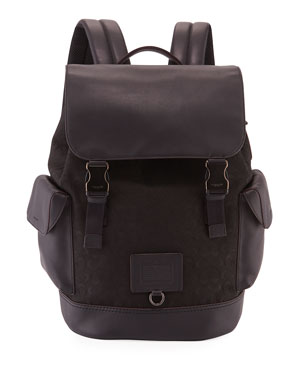 227847c80553 Coach Men s Rivington Jacquard   Leather Backpack