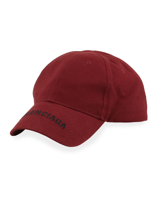 dac0102f9b531 Balenciaga Men s Logo Embroidered Baseball Cap
