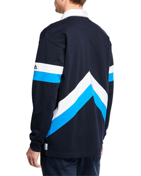 Scotch & Soda Men's Sporty Long-Sleeve Polo Shirt
