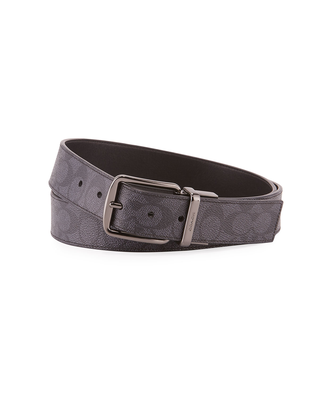Men's Wide Harness Signature Print Belt by Coach