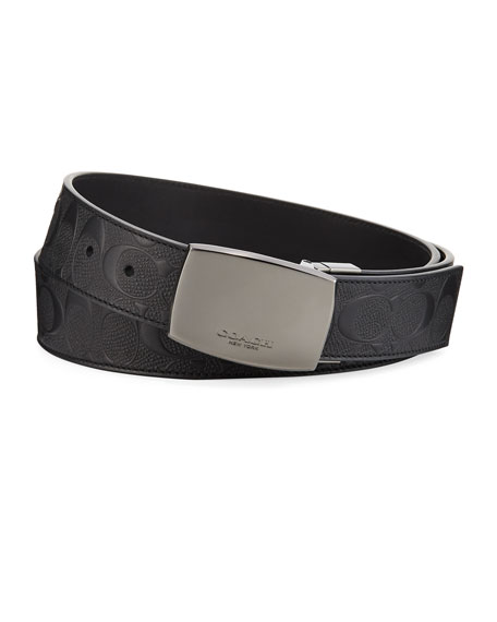 Coach Men's Classic Plaque Reversible Leather Belt