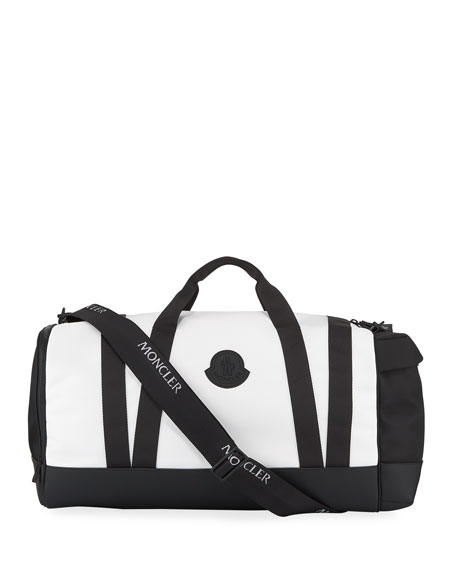 Moncler Men's Nylon Canvas Zip-Top Duffel Bag
