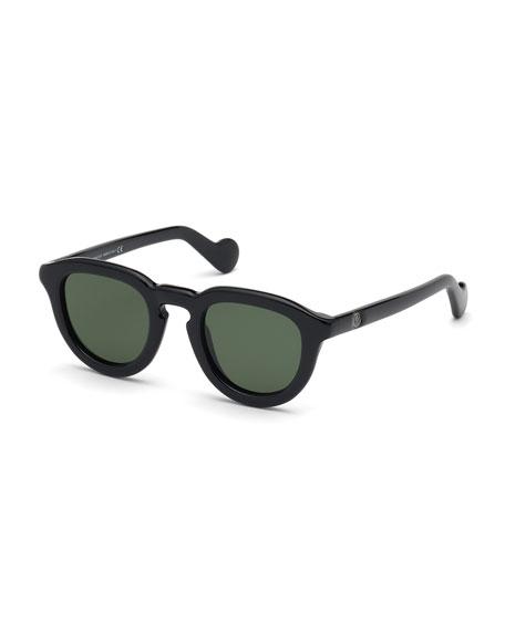 Moncler Men's Round Duvet Acetate Sunglasses