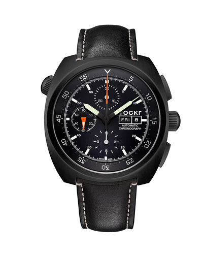 Men's Air Defender Leather Chronograph Watch
