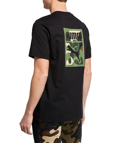 Puma Men's Wild Pack Camo Logo T-Shirt